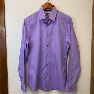 EXPRESS 1MX Fitted Long Sleeve Dress Shirt